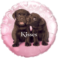 Pink Puppy Kisses Foil Balloon