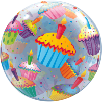 Cup Cake Party  Balloon in a Box