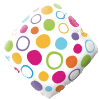 Polka Dots Diamond Balloon in a Box
