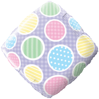 Gingham Diamond Balloon in a Box