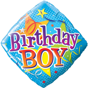 Birthday Boy Stars Balloon in a Box