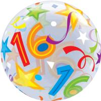 16 Stars & Streamers Bubble Balloon in a Box