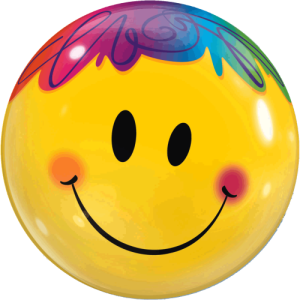 Clown Smiley Face  Balloon in a Box