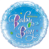 "18"" Baby Boy Holographic Stars Balloon overview"