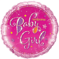 Pink Welcome Baby Girl Balloon in a Box