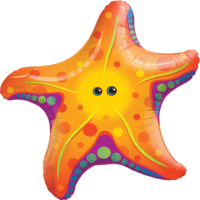 Vibrant Star Fish SuperShape Balloon in a Box