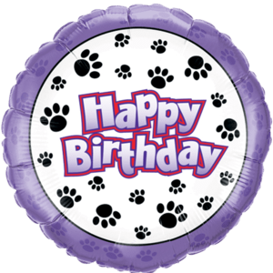 Paw Print Happy Birthday  Balloon in a Box