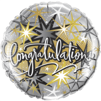 Elegant Sparkle Congratulations Balloon in a Box