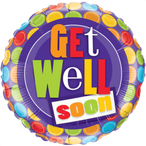 Get Well Soon Patterned  Balloon in a Box