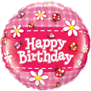 Ladybugs & Daisies Happy Birthday Balloon in a Box