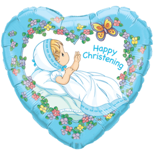 Happy Christening Boy Balloon in a Box