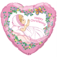 Happy Christening Girl Balloon in a Box