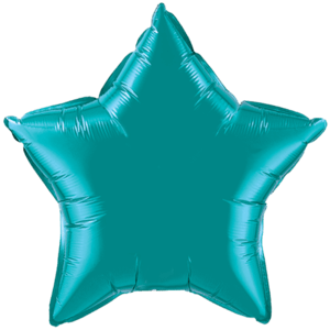 "20"" Teal foil Star Balloon Product Display"