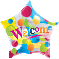 Colourful Welcome Balloon in a Box