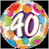 "18"" Dots & Glitz 40th Balloon overview"