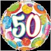 "18"" Dots & Glitz 50th Balloon overview"