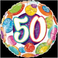 50th Big Dotz & Glitz Balloon in a Box