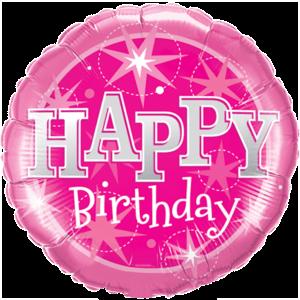 Pink Stars Birthday Balloon in a Box