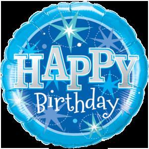 Blue Stars Birthday  Balloon in a Box