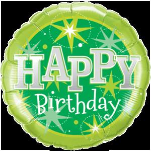 Green Stars Birthday Balloon in a Box