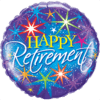 """18"""" Sparkly Happy Retirement Balloon overview"""