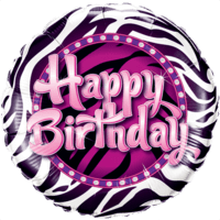 Birthday Zebra Print Balloon in a Box