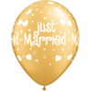 "11"" Just Married Hearts Gold x 25 overview"