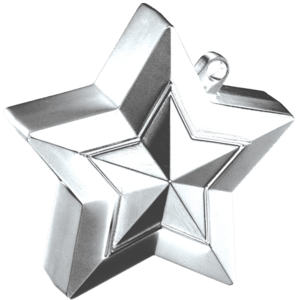 Silver 3D Star Weight Product Display
