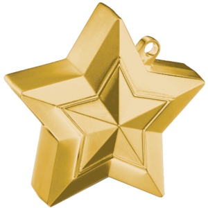 Gold 3D Star Weight Product Display