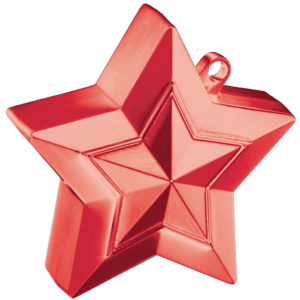 Red 3D Star Weight Product Display