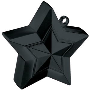 Black 3D Star Weight Product Display