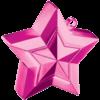 Magenta 3D Star Weight