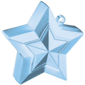Pearl Light Blue 3D Star Weight Product Display