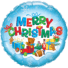 """18"""" Colourful Merry Christmas Balloon overview"""