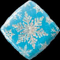 Holographic Blue Snowflake Foil Balloon