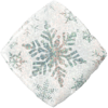 """18"""" Sparkly Silver Snowflake Balloon overview"""
