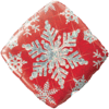 """18"""" Red Sparkly Snowflake Balloon overview"""