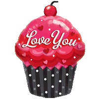 "35"" Scrumptious Love You Cupcake Balloon in a Box"