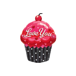 "35"" Love Cupcake Balloon in a Box"