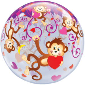 "22"" Cheeky Love Monkeys Balloon in a Box"