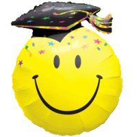 Smiley Face Graduate Balloon in a Box
