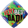 """18"""" Very Best Dad Balloon overview"""