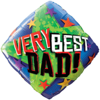Best Dad Colourful Stars Balloon in a Box