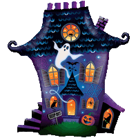 Ghostly Haunted House Balloon in a Box