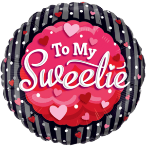 To My Sweetie Polka dots Balloon in a Box