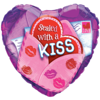 Sealed With A Kiss Valentine Balloon in a Box