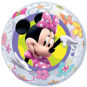 Floral Minnie Mouse Bubble Balloon in a Box