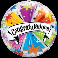 """22"""" Congratulations Bubble Balloon in a Box"""
