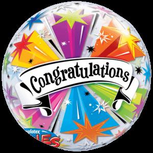 Colourful Congratulations Banner Bubble