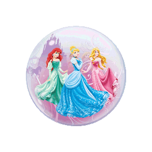Disney Princesses Swirls and Sparkles Bubble
